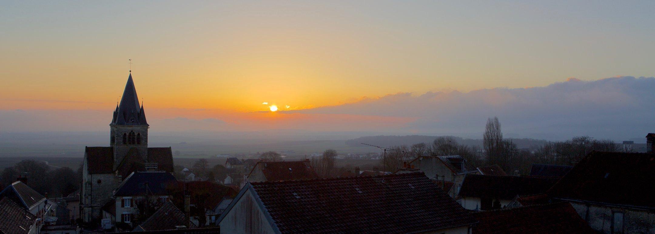 Sunrise in Champagne