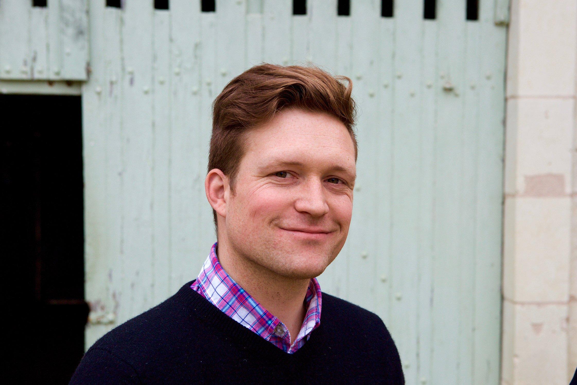 Brendan Stater-West winemaker from Saumur France